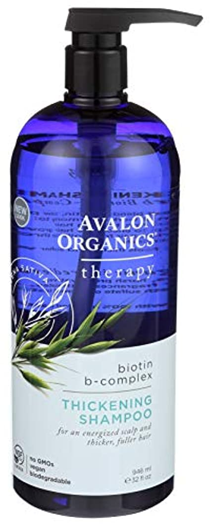 カード愛撫趣味海外直送品Avalon Organics Biotin-B Complex Shampoo, 32 OZ