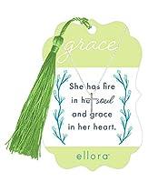 Ellora Fire in Her Soul Grace in Her Heart シンプルクロスシルバートーン レディースネックレス
