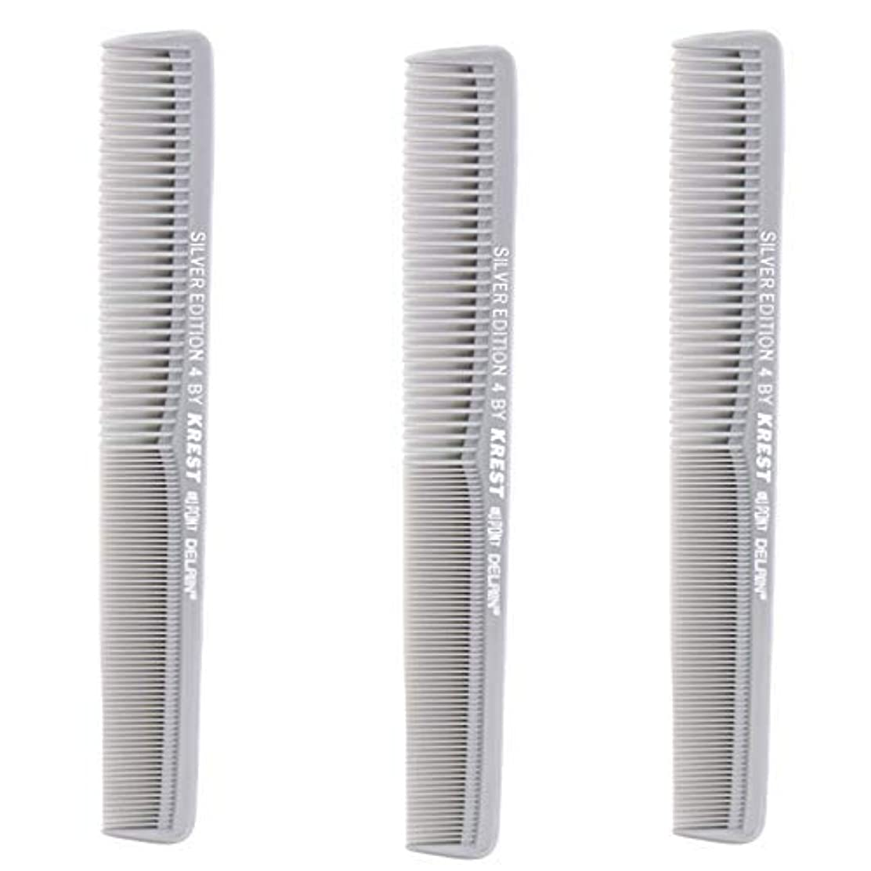 残高メリー肥沃なKrest Comb 7 In. Silver Edition Heat Resistant All Purpose Hair Comb Model #4 [並行輸入品]