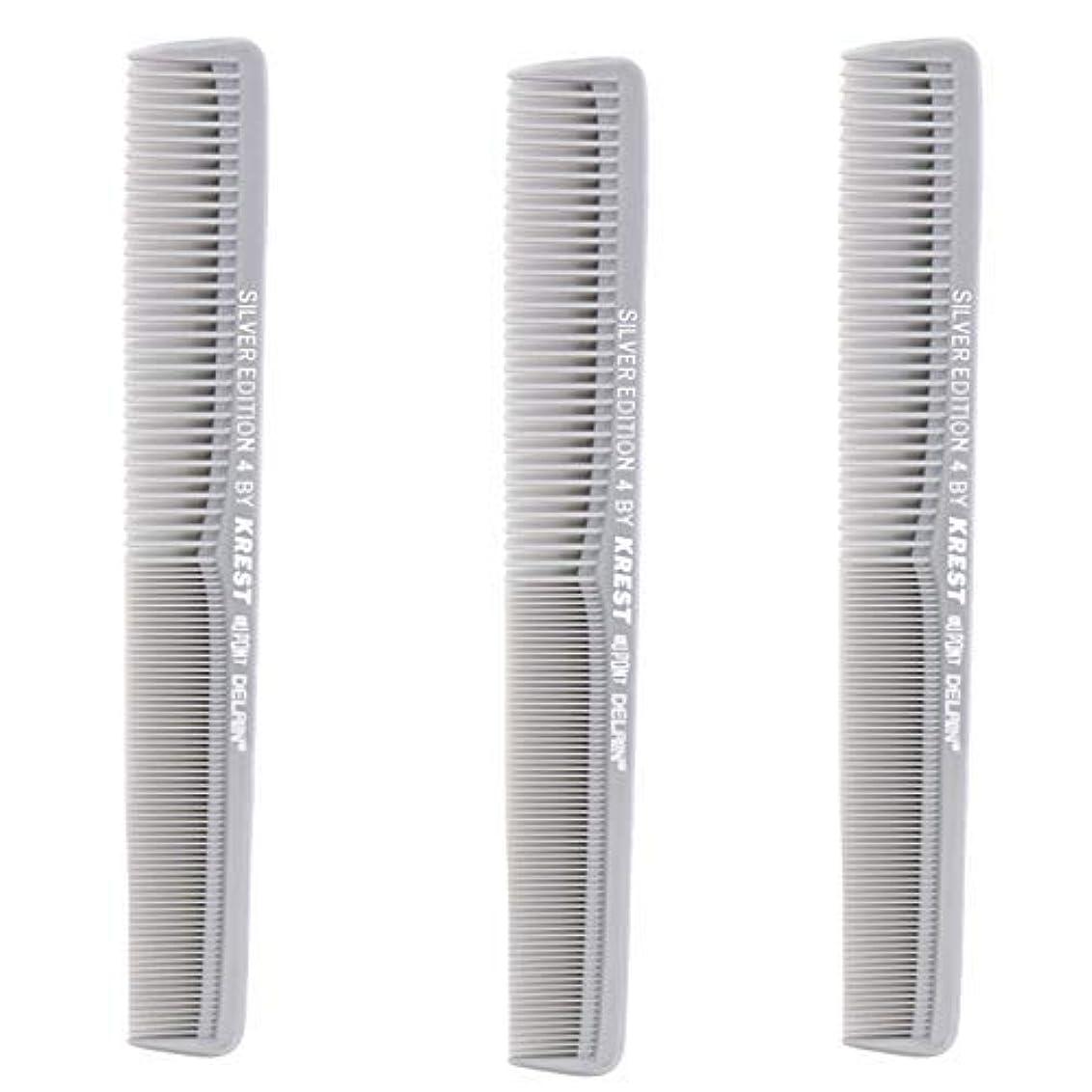 大工独占活力Krest Comb 7 In. Silver Edition Heat Resistant All Purpose Hair Comb Model #4 [並行輸入品]