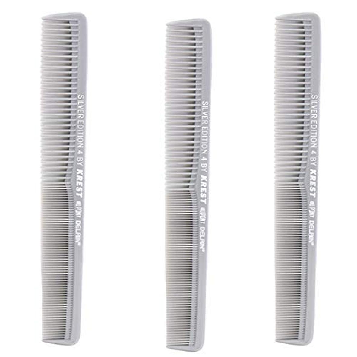 ドナーメキシコテメリティKrest Comb 7 In. Silver Edition Heat Resistant All Purpose Hair Comb Model #4 [並行輸入品]