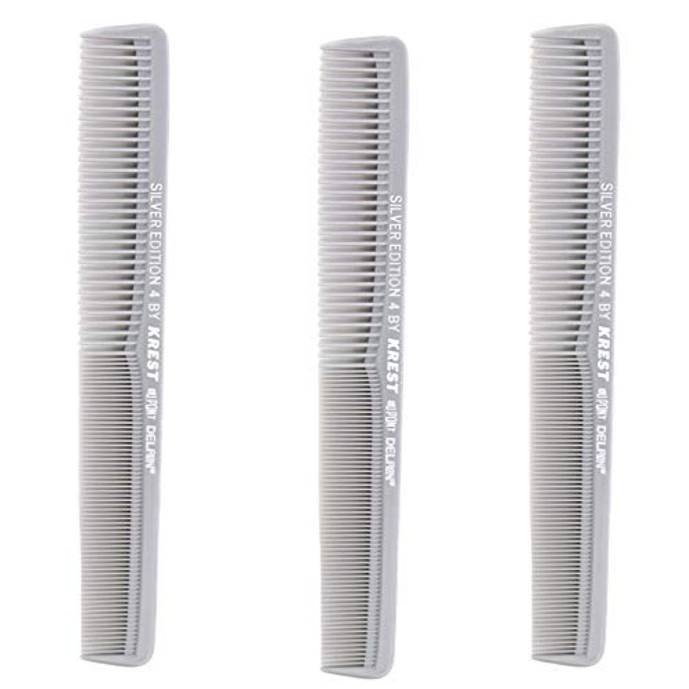 火曜日第九間Krest Comb 7 In. Silver Edition Heat Resistant All Purpose Hair Comb Model #4 [並行輸入品]