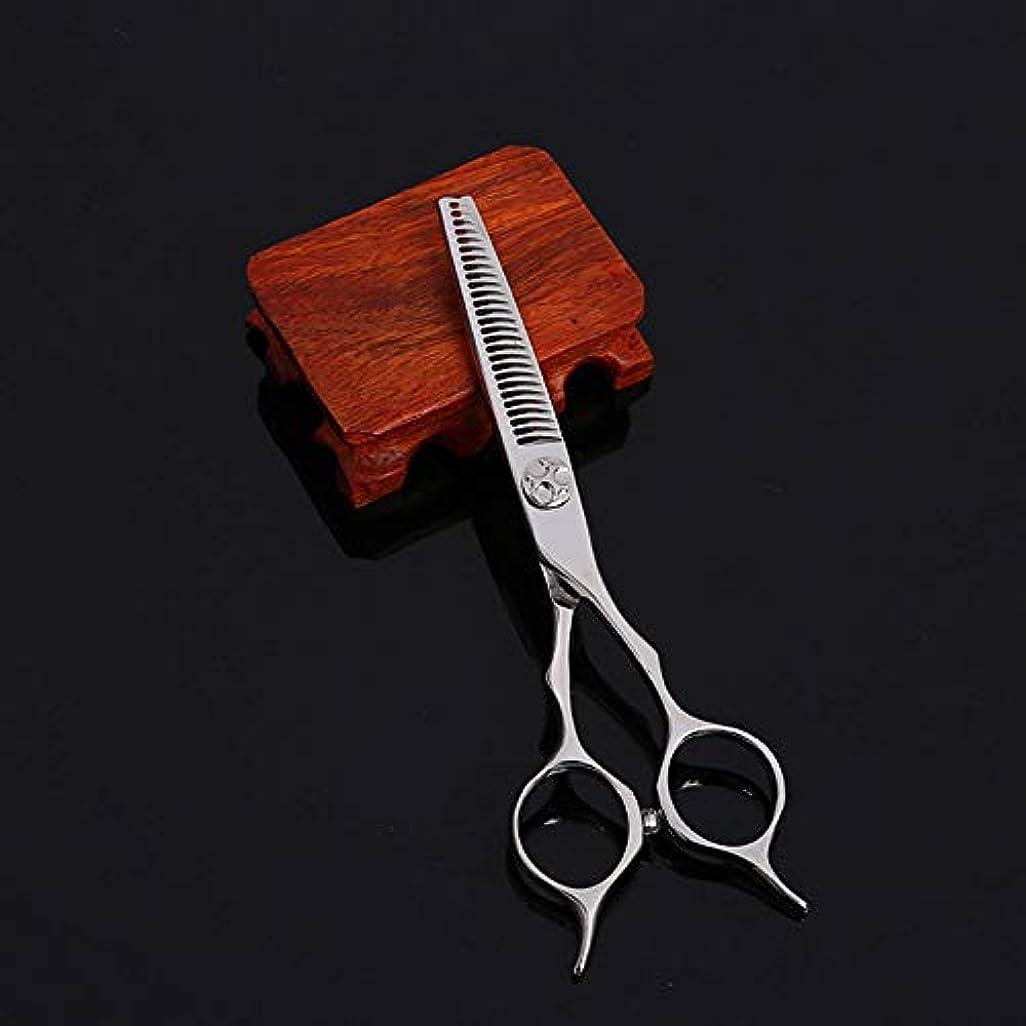 シェード作物軍WASAIO シアーズはさみセットヘアカット5.5インチカービング美容専門ステンレス鋼理容美容サロンテクスチャーレイザーエッジシザー髪 (色 : Silver)