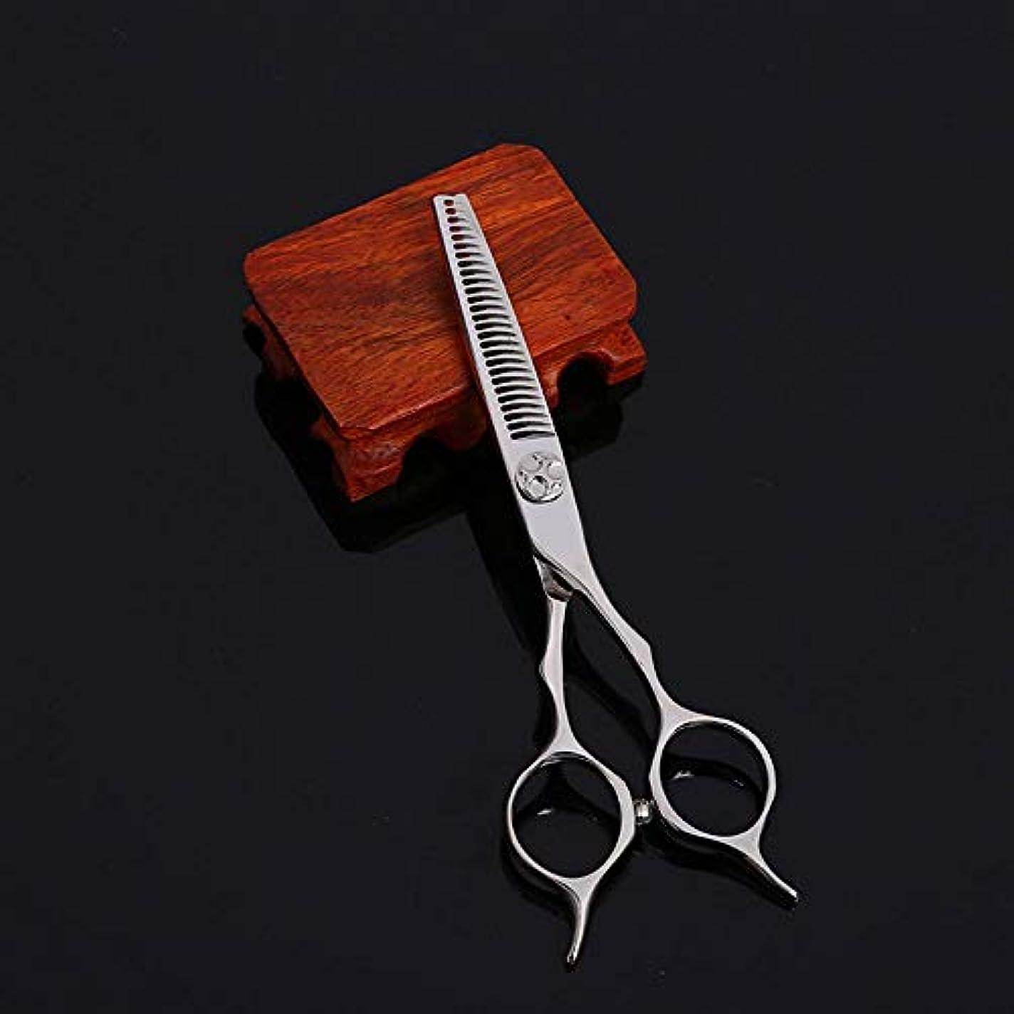 ファシズムマーキー慰めWASAIO シアーズはさみセットヘアカット5.5インチカービング美容専門ステンレス鋼理容美容サロンテクスチャーレイザーエッジシザー髪 (色 : Silver)