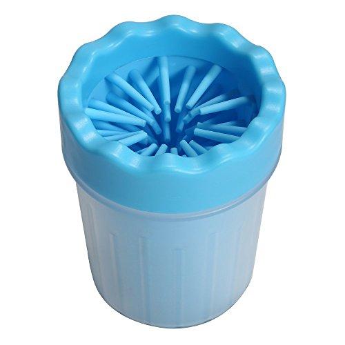 Petcabe 足クリーナー 犬 猫 爪を洗う カップ 犬の爪クリーナー 小型 中型犬 ペットクリーニング ブラシカップ おしゃれ (Petite)