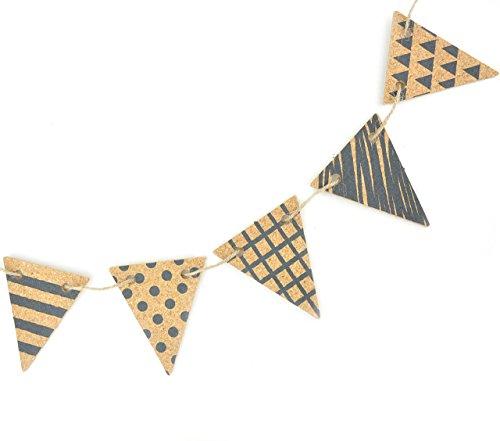 RoomClip商品情報 - [ラトルウッド]RattleWood コルクガーランド (小) フラッグ パーティーグッズ 小物 雑貨 飾り インテリア (ネイビー)