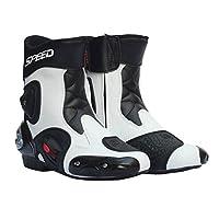 IPOTCH 2個 バイクシューズ バイク用靴 換気設計 足首関節保護 全18種類 - ホワイト , 45