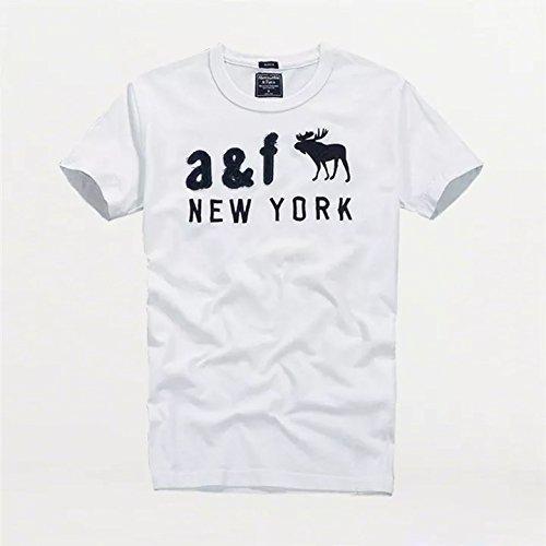 Abercrombie & Fitch【アバクロ】 A&F メンズ ヴィンテージウォッシュ ショートスリーブ T-Shirts WHITE M