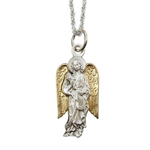 大天使 聖ガブリエル メダイ チャーム ネックレス ペンダント チェーン付 イタリア製