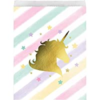Creative Converting 329309 Unicorn Sparkle 120-Count Paper Treat Bags [並行輸入品]