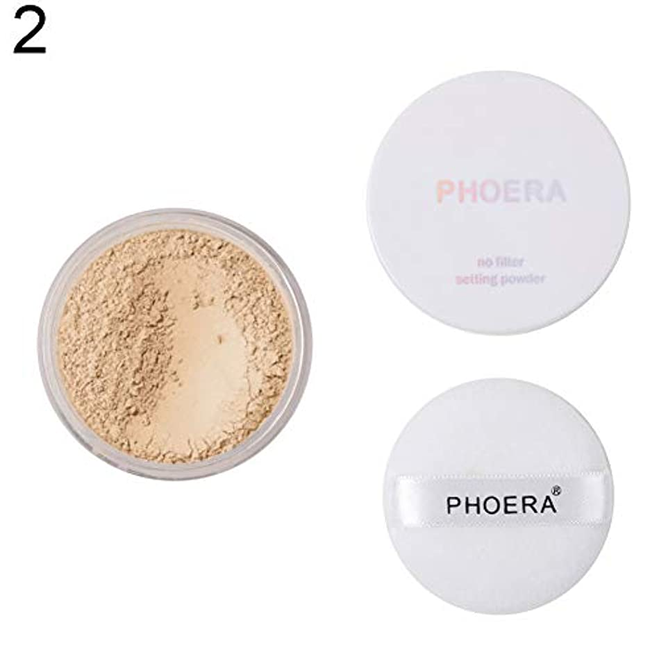 PHOERAマットルースセッティングパウダーオイルコントロールブライトニングスキンフィニッシュ化粧品 - 2