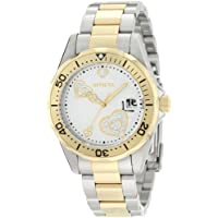 Invicta Women's 12287 Pro Diver Silver Heart Dial Two Tone Stainless Steel Watch
