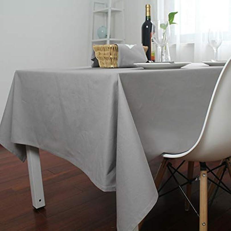 小麦粉スカープ換気するHAPzfsp テーブルクロス 台所長方形のテーブルクロスの汚れの塵の証拠の装飾的なテーブルクロスのための綿のテーブルクロスの純粋な色のテーブルクロス パティオ、キッチン、ダイニングルーム、ダイニングテーブル、ホテル (Color : Light gray, Size : 140*220cm)