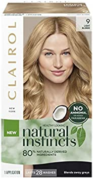 Clairol Natural Instincts Semi-Permanant Hair Colour, 9 Light Blonde, 1 count