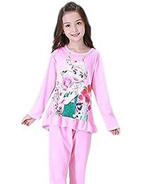JR プリンセス アナと雪の女王 パジャマ 2点セット 3-5歳 上下セット女の子 長袖 トップス パンツ キッズパジャマ カジュアル ゆったり 無地 部屋着 寝間着