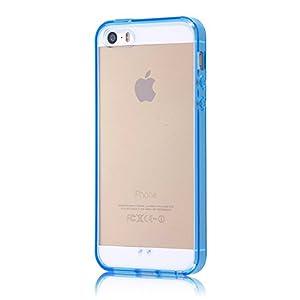 レイ・アウト iPhone SE/5s/5 ケース ハイブリッド(TPU+ポリカーボネイト)ケース ブルー RT-P11CC2/A