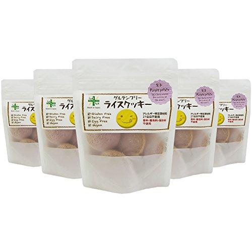 Plus グルテンフリー クッキー 紫芋 7枚×5袋