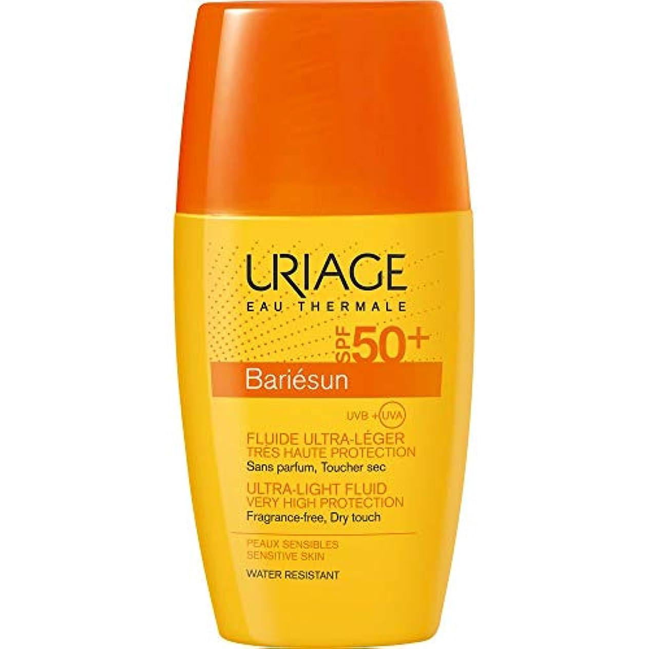 尊敬手書きベッドを作る[Uriage] Uriage Bariesun超軽量流体Spf50 + 30ミリリットル - Uriage Bariesun Ultra-Light Fluid SPF50+ 30ml [並行輸入品]