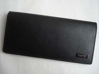 バーバリー ブラックレーベル(BURBERRY BLACK LABEL) 長財布 ブラック×ブラック メンズ