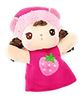 超癒し系 やさしい お顔が かわいい 女の子 フワフワ パペット 子供さんから お年寄りまで 愛され顔 (ピンクのいちごちゃん)