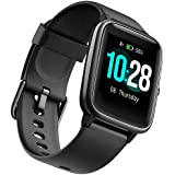 Fitness Tracker Smart Watchn with Heart Rate Monitor and 9 Sports Modes,Waterproof Color Touch Screen Activity Tracker with Sleep Monitory, Calorie Counter, Pedometer Sports Watch for Men Women (Black)