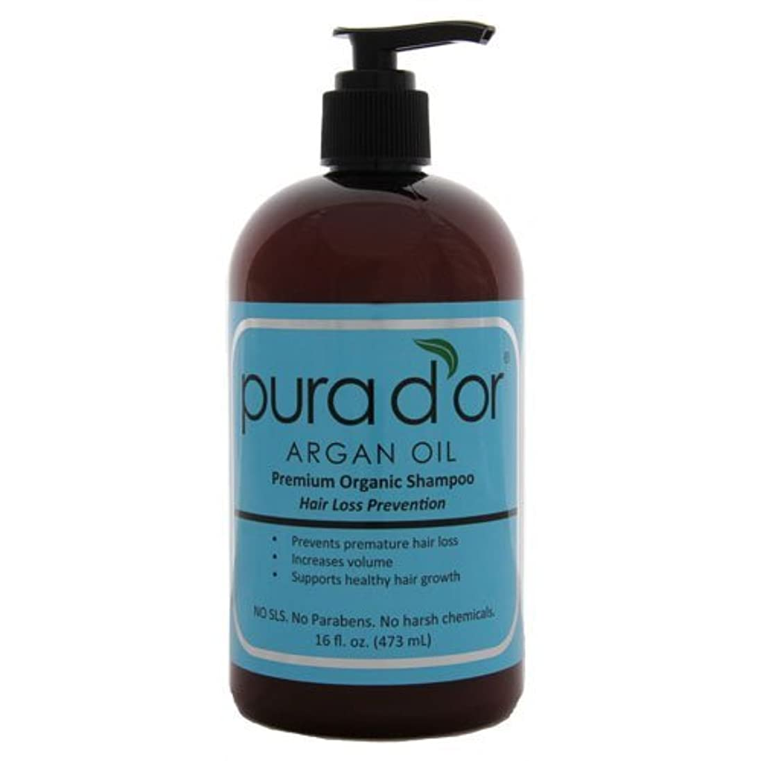 拒否ジョージハンブリー憧れ【オーガニック】 DHTブロッカー シャンプー男女兼用 470ml【並行輸入品】 Pura d'or Hair Loss Prevention Premium Organic Shampoo 16oz