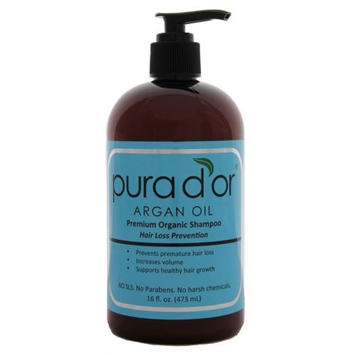 【オーガニック】 DHTブロッカー シャンプー男女兼用 470ml【並行輸入品】 Pura d'or Hair Loss Prevention Premium Organic Shampoo 16oz