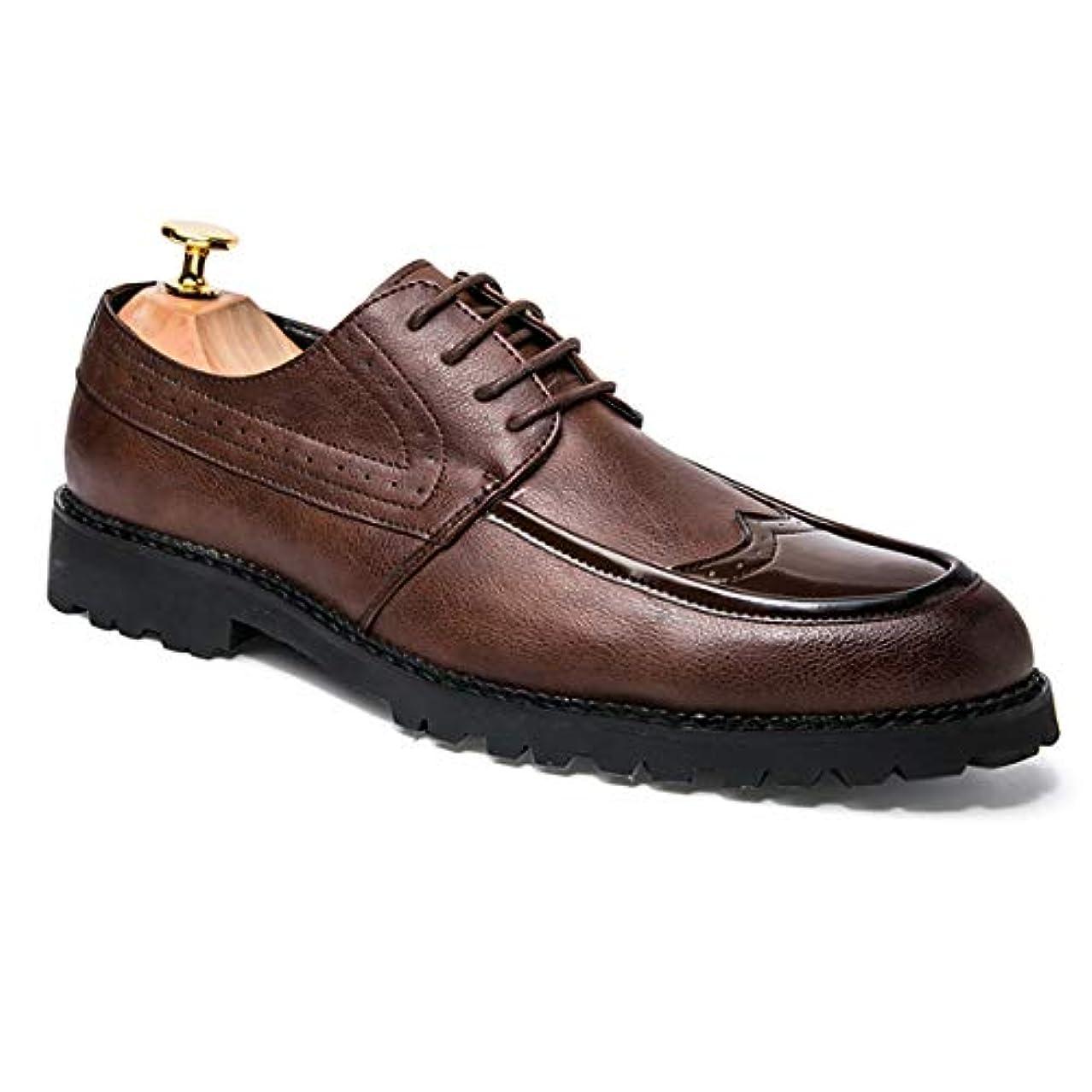 信頼指クーポン[Poly] メンズシューズ レザーシューズ ドレスシューズ レースアップ ビジネスシューズ カジュアル靴 紳士靴 ハイヒール エナメル ストレートチップ G-K66090