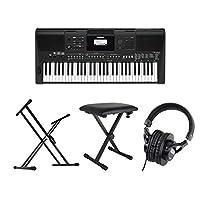 YAMAHA PSR-E463 PORTATONE 61鍵盤 電子キーボード スタンド ベンチ ヘッドホン 4点セット [鍵盤 Cset]