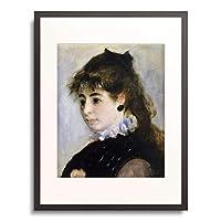 ピエール=オーギュスト・ルノワール Pierre-Auguste Renoir 「Portrait of Miss Henriette Henriot. 1874」 額装アート作品