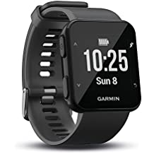 Garmin Forerunner 30 GPS Running Watch with Wrist Heart Rate Slate Black (Renewed)