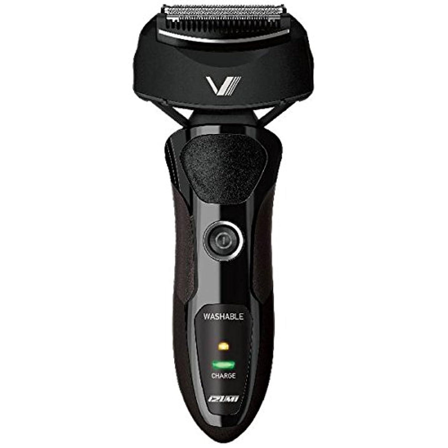 介入する木製歌詞IZUMI VIDAN 往復式シェーバー 深剃りシリーズ 3枚刃 ブラック IZF-V36-K