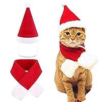 FairOnly ペット帽子 かわいい クリスマス サンタ 猫 小犬 コスチューム 猫衣装 L