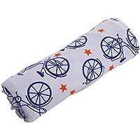 ベビーMuslin SwaddleソフトSleeping Blanket Wrapバスタオルカバーバイクパターン