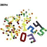 Swiftgood 200ピース/セット多色プラスチックビルディングブロック子供赤ちゃんのおもちゃパズル教育学習発達玩具脳ゲーム