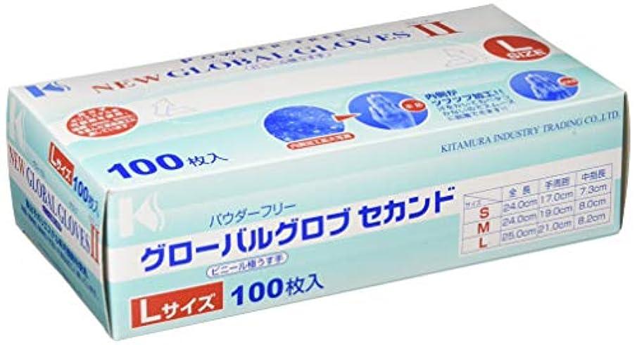 ベッドを作る貯水池石膏北村産業 ニューグローバルグローブセカンド2 Lサイズ (100枚入) 塩化ビニール STBC203