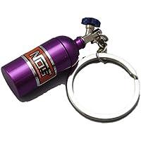 TNBF キーホルダー NOS キー リング 車 バイク ストラップ ニトロ システム 改造 ターボ スマホ ホルダー 紫