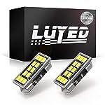 LUYED LEDバルブ T10×31 DE3157 両口金タイプ 真っ白 ホワイト 2個入り 12連 640ルーメン 超高輝度 3020SMD 室内灯 ルームランプ ラゲッジライト マップランプ