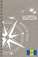 Madeira Diario de Viaje: Libro de Registro de Viajes - Cuaderno de Recuerdos de Actividades en Vacaciones para Escribir, Dibujar - Cuadrícula de Puntos, Bucket List, Dotted Notebook Journal A5