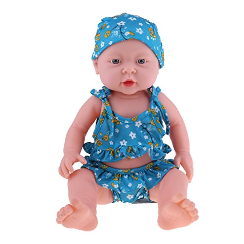 Baoblaze 抱き人形 ヌード 服付き 41cm 赤ちゃん人形 抱きドール ビニル製 新生児幼児 保育園おもちゃ 全8色 - #7