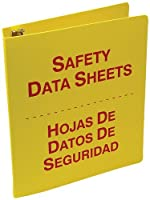 Accuform Signs SBZRS643 Spanish Bilingual Safety Data Sheets (SDS) Binder 3-Ring 3 Red/Yellow with 36 Metal Security Chain [並行輸入品]