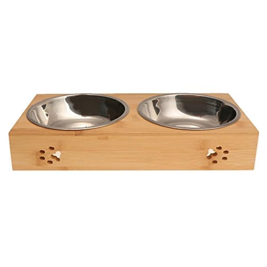 傾向幼児パイプラインHomyl 高品質 ペット  犬 フィーダー 猫 水 ボウル 摂食ボウル 皿 容器 全2サイズ - S