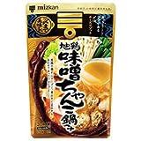 ミツカン 〆まで美味しい 地鶏味噌ちゃんこ鍋つゆ ストレート 750g×12袋入