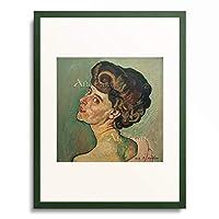 フェルディナント・ホドラー Ferdinand Hodler 「Bildnis Valentine Gode-Darel, 1909.」 額装アート作品