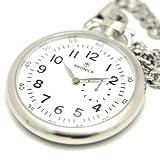 BRONICA (ブロニカ) 懐中時計 防水 ポケットウォッチ 国産ムーブメント スモールセコンド ホワイト BR-816M-WH