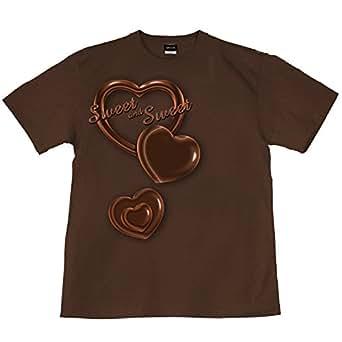 バレンタイン チョコレート プレゼント 裏もデザイン有 茶 ブラウン BROWN XS サイズ