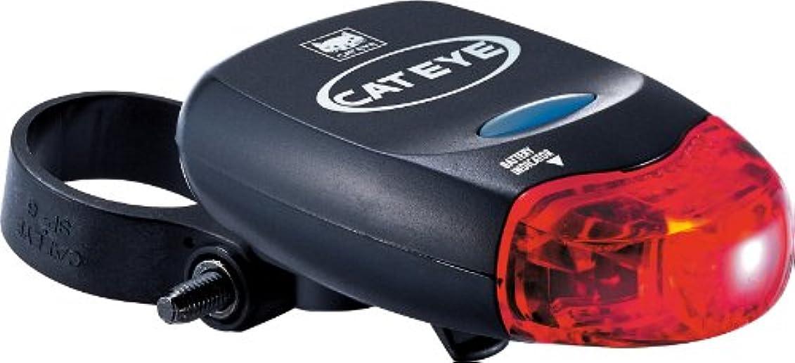 サイドボードバクテリア耳Cateye Bicycle Lighting Rear Battery-Powered TL-LD 260 G, Black/Red