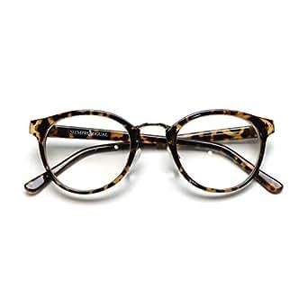(トライバル)TRIBAL 細めのシンプルフレーム ボストンタイプ眼鏡 デミ