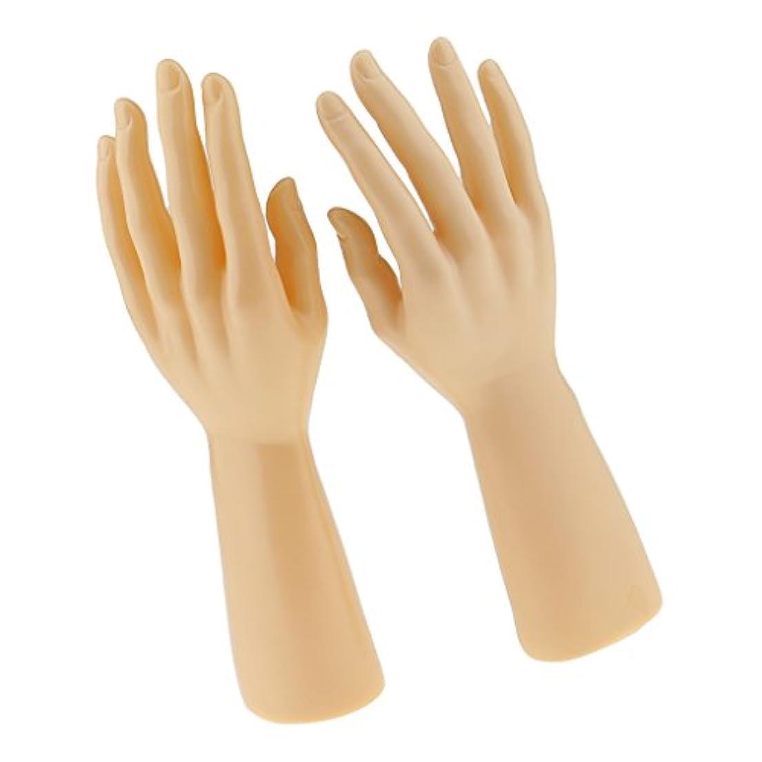 ストローク上モザイク1ペア ジュエリー ブレスレット 展示用 手袋 ディスプレイ 男性 マネキン手 - 肌色