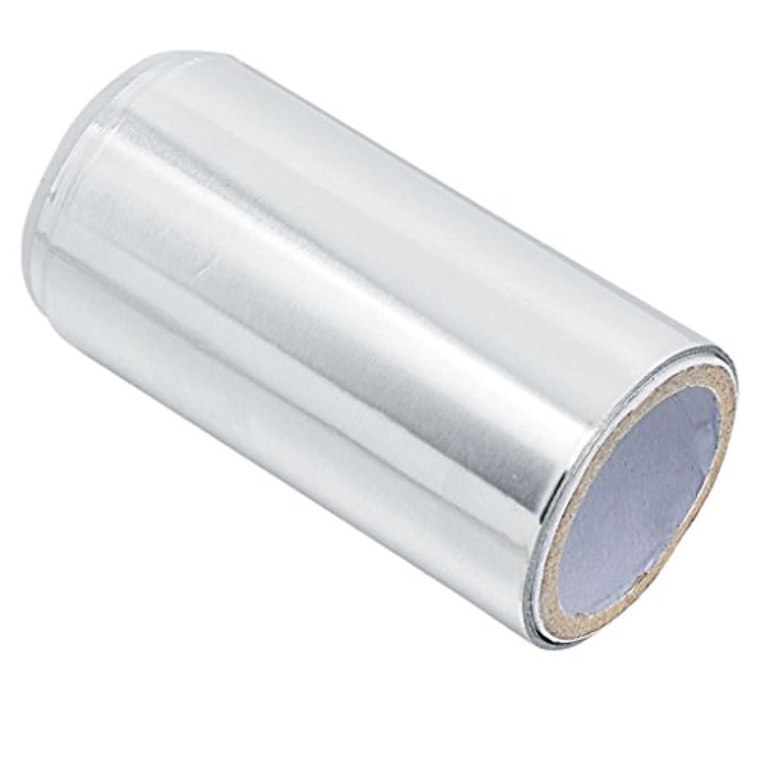 虚偽チャット思いつくマニキュア錫箔紙 ヘア/ネイル用 ジェル除却 ヘアパーマ 約5m